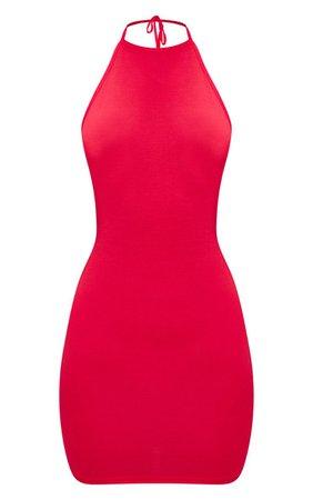 Basic Black Halterneck Bodycon Dress | PrettyLittleThing