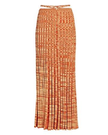 Christopher Esber Space Dye Knit Midi Skirt | INTERMIX®