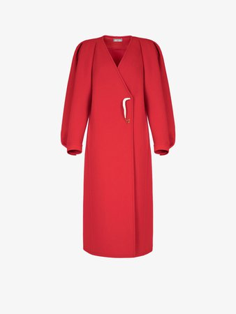 Manteau en laine feutrée à épingle laquée | GIVENCHY Paris