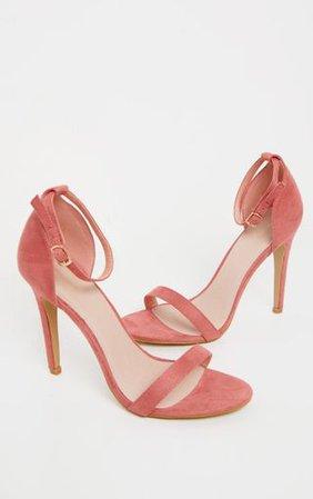 Clover Rose Strap Heeled Sandals | PrettyLittleThing USA