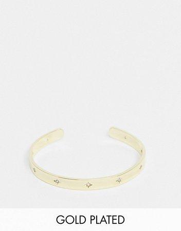 Shashi celestial cuff bracelet in gold | ASOS
