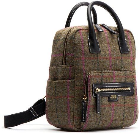 Plaid Wool Backpack
