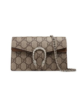 Gucci beige Dionysus GG Supreme super mini bag $780 - Shop AW19 Online - Fast Delivery, Price