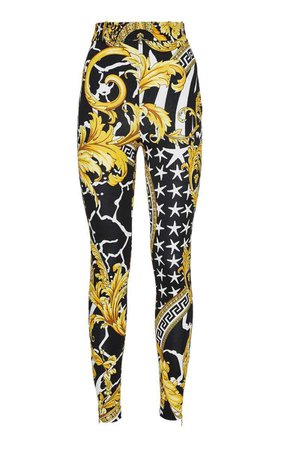 High-Rise Gabardine Pants By Versace