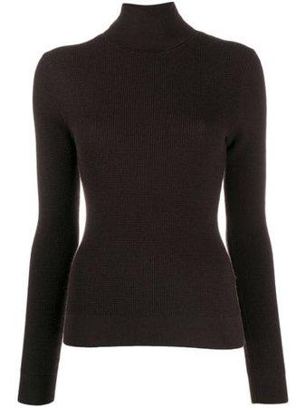 Dolce & Gabbana textured cashmere turtleneck jumper - FARFETCH