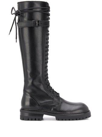 Ann Demeulemeester knee-length Chunky Boots - Farfetch