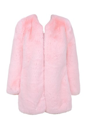 House of CB | Roberta Pale Pink Faux Fur Jacket