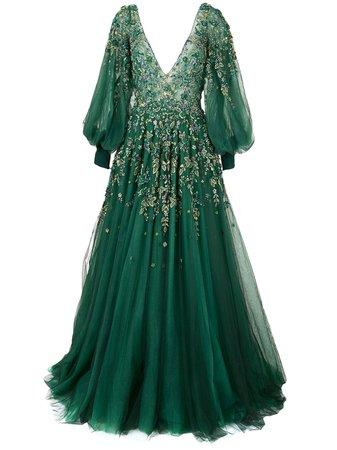 Saiid Kobeisy, long-sleeve flared dress