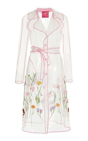 See Through Floral Trench by Blumarine | Moda Operandi