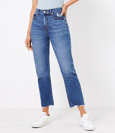 The Tall Curvy Fresh Cut High Waist Straight Crop Jean in Authentic Dark Indigo Wash