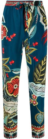 graphic print cropped trousers