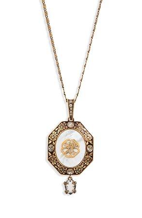 Alexander McQueen Signature Medallion Pendant Necklace | Nordstrom