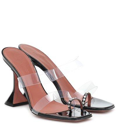 Naima Embellished Suede Sandals | Amina Muaddi - Mytheresa