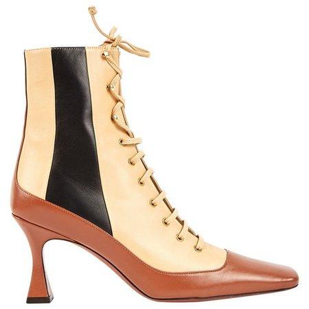 Leather heels Manu Atelier Beige size 38 EU in Leather - 8681050