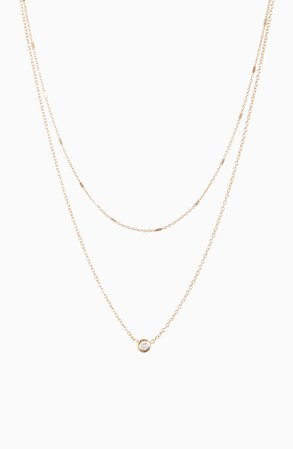 Zoë Chicco Double Chain Necklace | Nordstrom