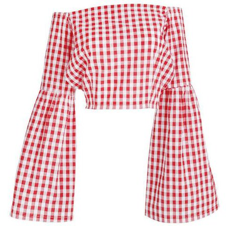 red gingham shirt with flared sleeves - Google Search