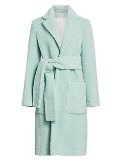 Helmut Lang Teddy faux fur coat