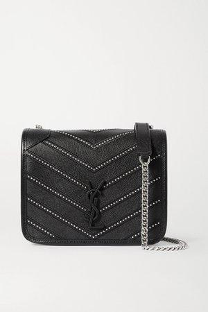 Black Niki mini studded quilted textured-leather shoulder bag | SAINT LAURENT | NET-A-PORTER