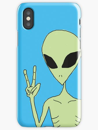 """""""peace alien"""" iPhone Cases & Covers by myacideyes 