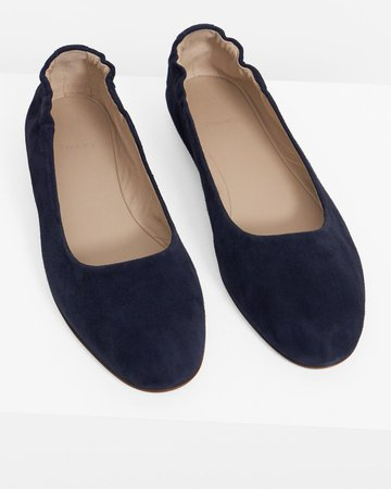Suede Glove Ballet Flat | Theory