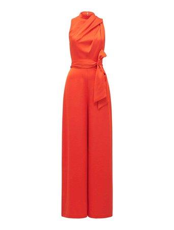 Glynn Draped Jumpsuit - Womens Fashion Online | Ever New Clothing orange