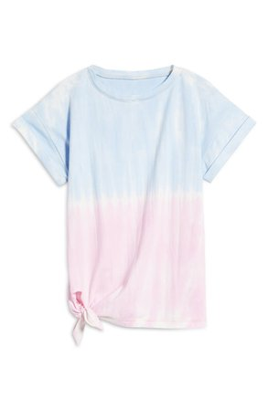 beachlunchlounge French Terry Side Tie T-Shirt | Nordstrom