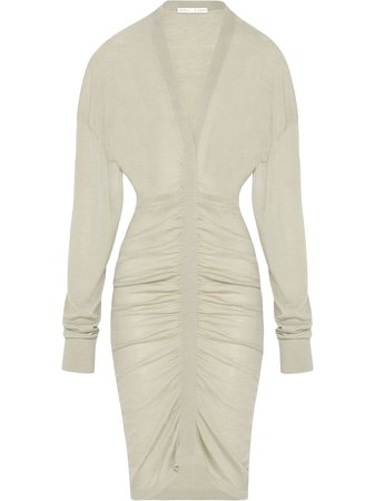 FENTY Plunging Pleated Knit Dress - Farfetch