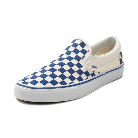 Vans Slip On Chex Skate Shoe - blue - 497108