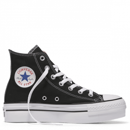 Black High Top Platform Converse