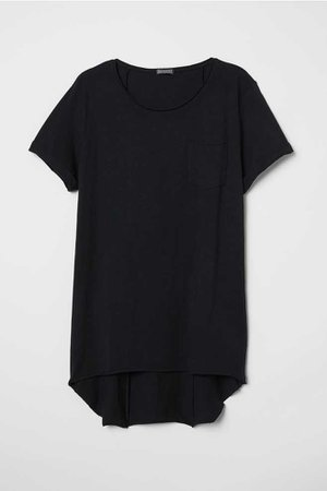 Long T-shirt - Black - Men   H&M US