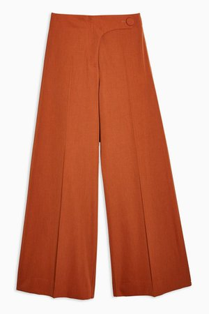 **Wool Wide Leg Trousers by Boutique | Topshop orange