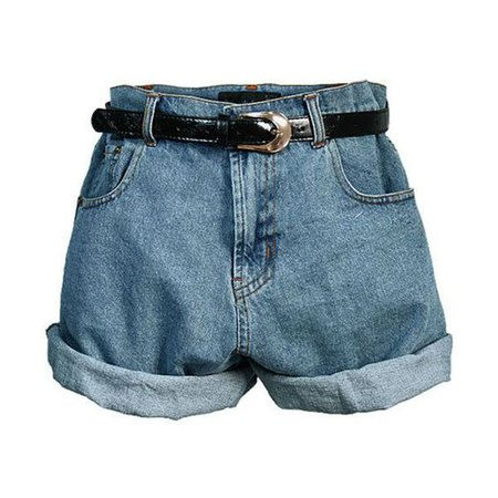 90's high-waisted denim shorts