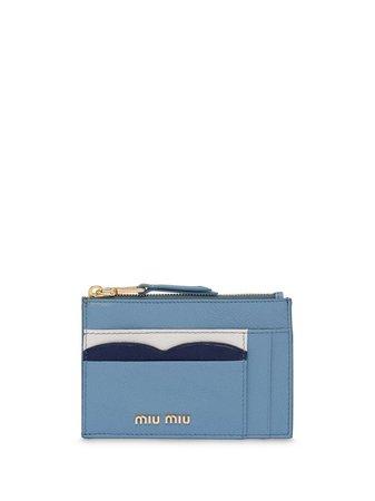 Miu Miu Madras Colour Leather Card Holder Aw20   Farfetch.Com