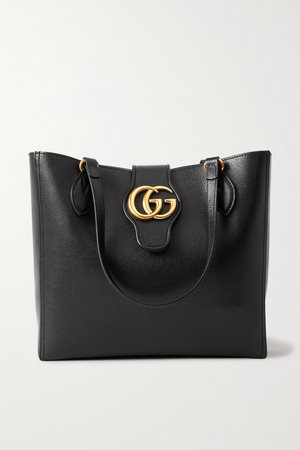Black + NET SUSTAIN Dahlia textured-leather tote | Gucci | NET-A-PORTER
