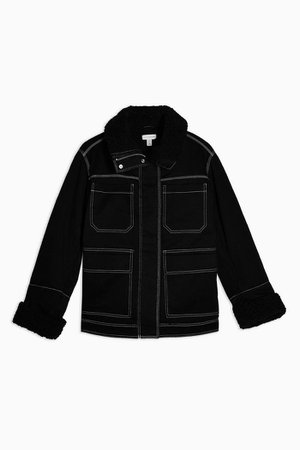 Black Borg Lined Jacket | Topshop