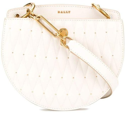 diamond-quilt crossbody bag