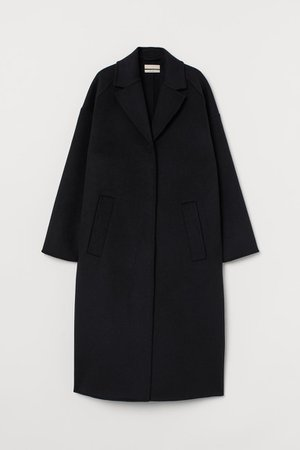 Oversized Wool-blend Coat - Black - Ladies | H&M US