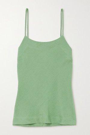 Net Sustain X Lg Electronics Linen Camisole - Sage green