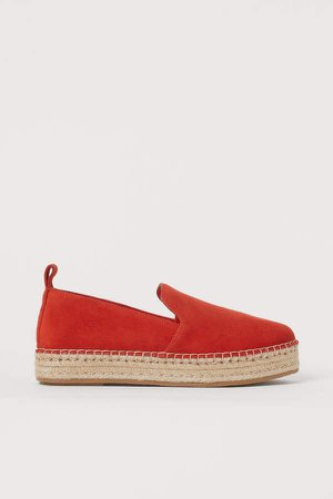 Suede Espadrilles - Orange