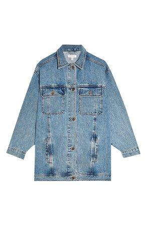 Topshop Oversize Long Denim Jacket | Nordstrom