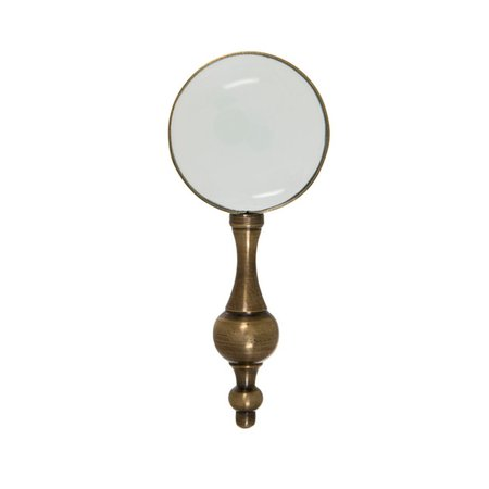 Antique style brass small magnifying glass - Homewares