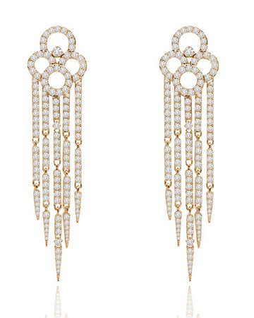 SUTRA 18K Rose Gold & Diamond Tassel Earrings | Neiman Marcus