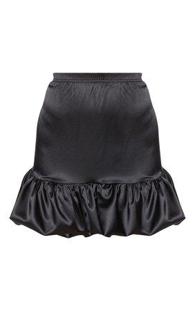 Dusty Pink Satin Ruffle Hem Mini Skirt | PrettyLittleThing USA