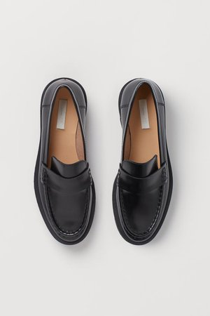 Chunky Leather Loafers - Black - Ladies | H&M US