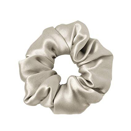 Amazon.com : LilySilk Silk Charmeuse Scrunchy -Regular -Scrunchies For Hair - Silk Scrunchies For Women Soft Hair Care Silver Grey : Beauty
