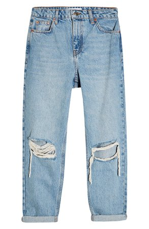 Topshop Double Rip Mom Jeans (Petite) | Nordstrom
