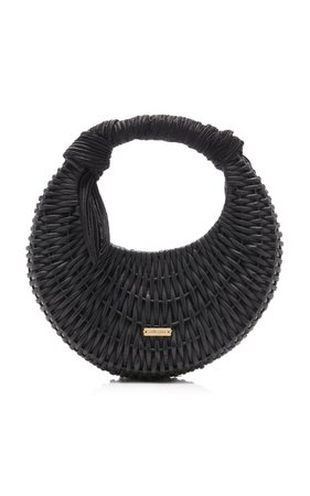 Taja Mini Rattan Top Handle Bag By Cult Gaia   Moda Operandi