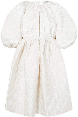 Cecilie Bahnsen - Ava Open-back Quilted Silk-satin Dress - Ivory