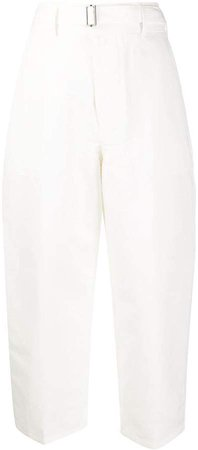 Cropped Workwear Trousers