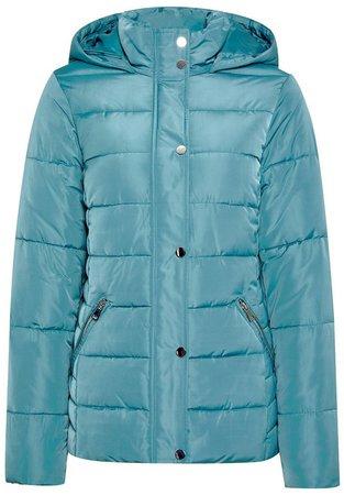 Teal Blue Short Padded Coat